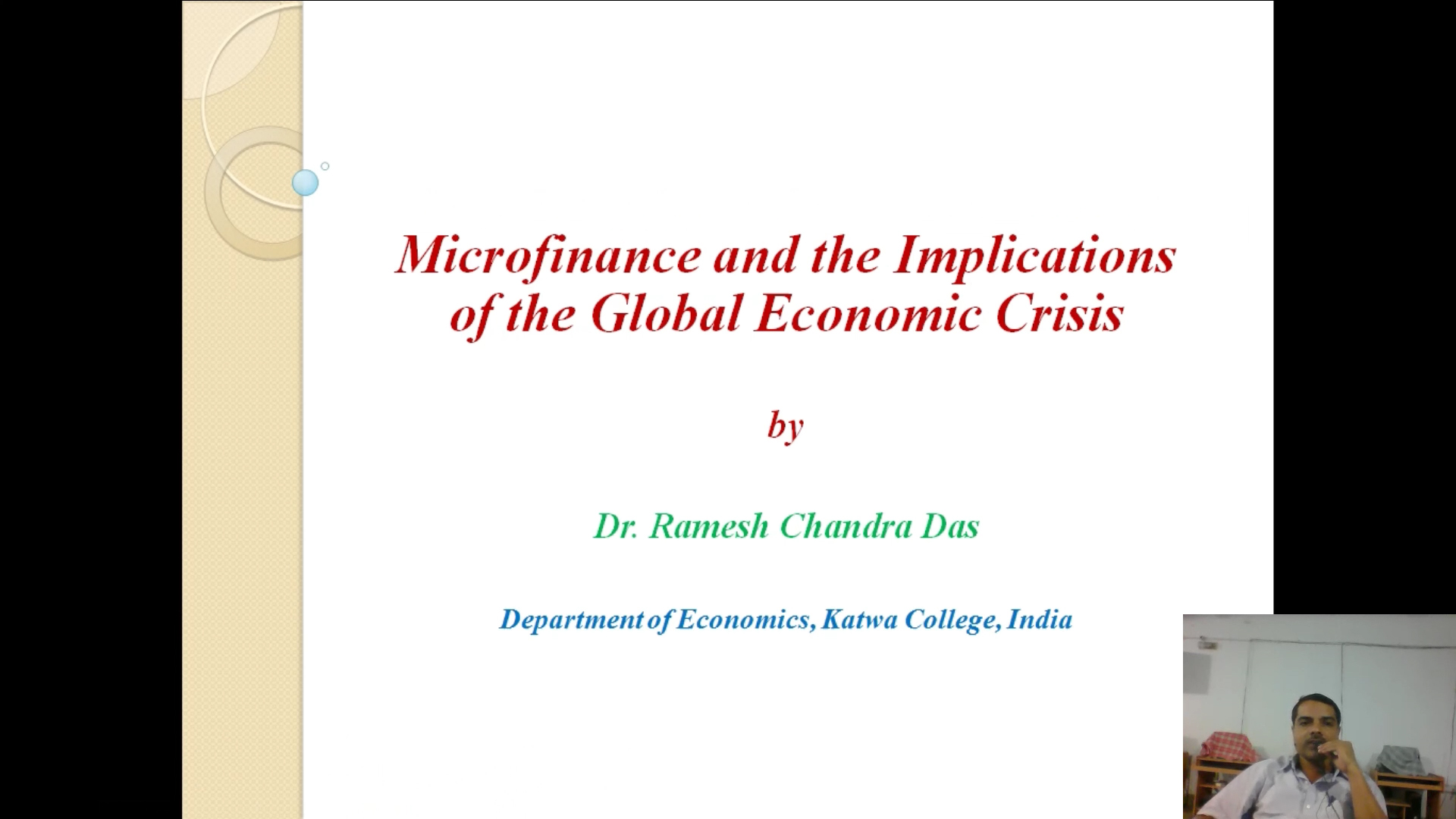 Microfinance and the Implications of the Global Economic Crisis