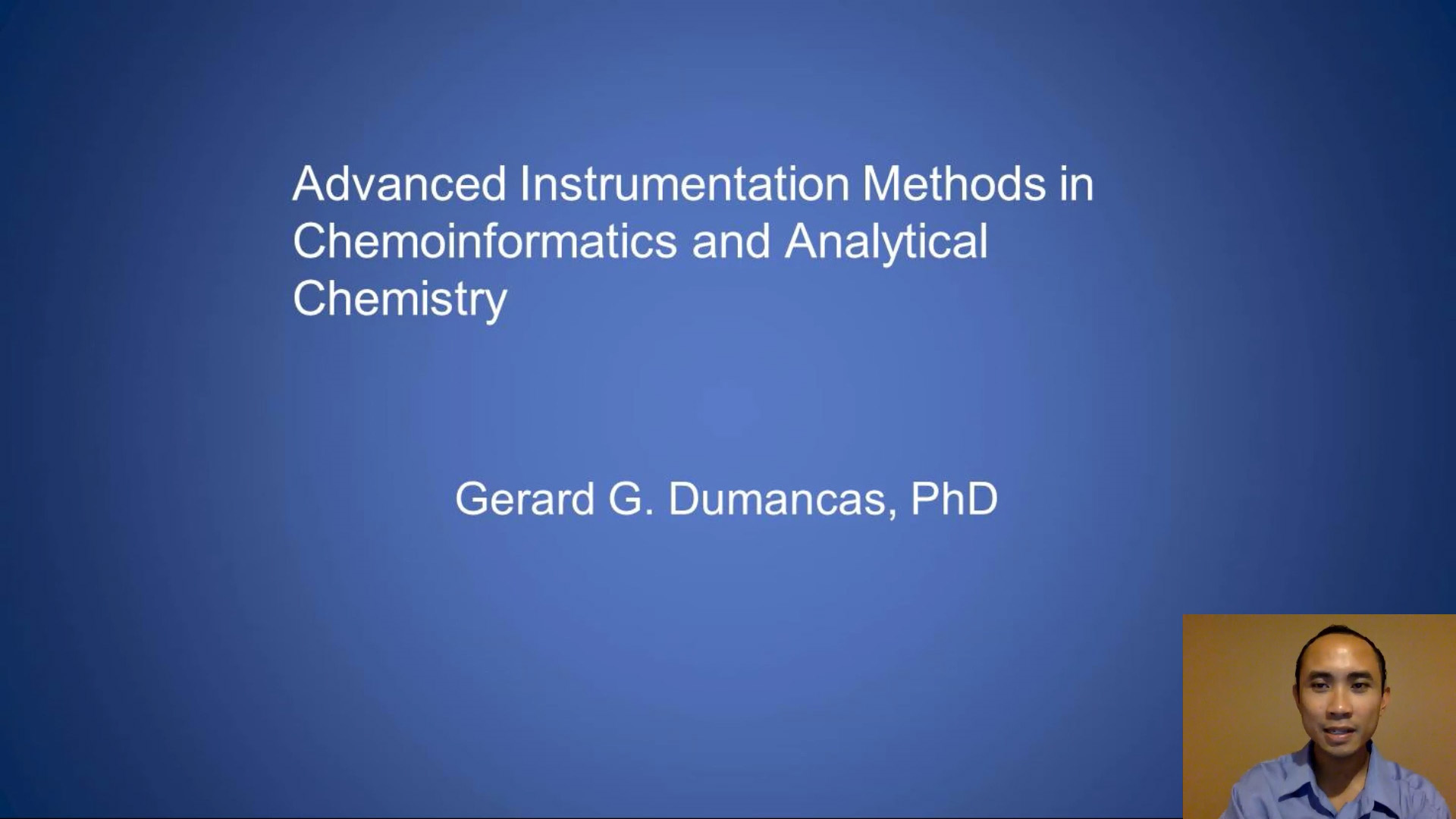 Advanced Instrumentation Methods in Chemoinformatics and Analytical Chemistry