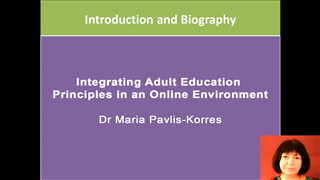 Integrating Adult Education Principles in an Online Environment