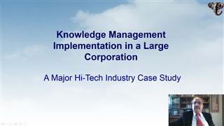 Knowledge Management Program Implementation in Large Corporations