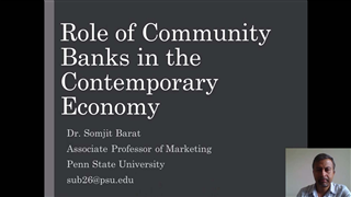 The Role of Community Banks in the Contemporary Economy