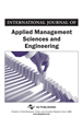 International Journal of Applied Management Sciences and Engineering, Volume 5, Issue 1