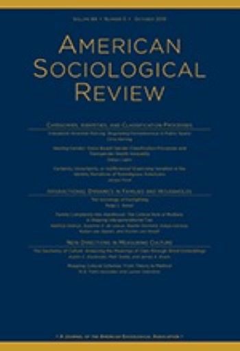 Journal Profile American Sociological Review
