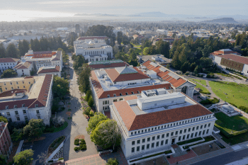 An aerial view of UC Berkeley's campus.