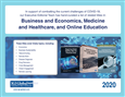 Business and Economics, Medicine and Healthcare, and Online Education Brochure